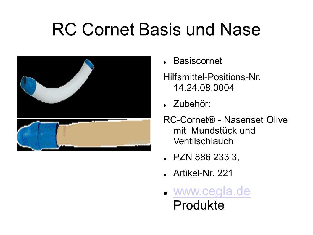 RC Cornet Basis und Nase Basiscornet Hilfsmittel-Positions-Nr. 14.24.08.0004 Zubehör: RC-Cornet® - Nasenset Olive mit Mundstück und Ventilschlauch PZN