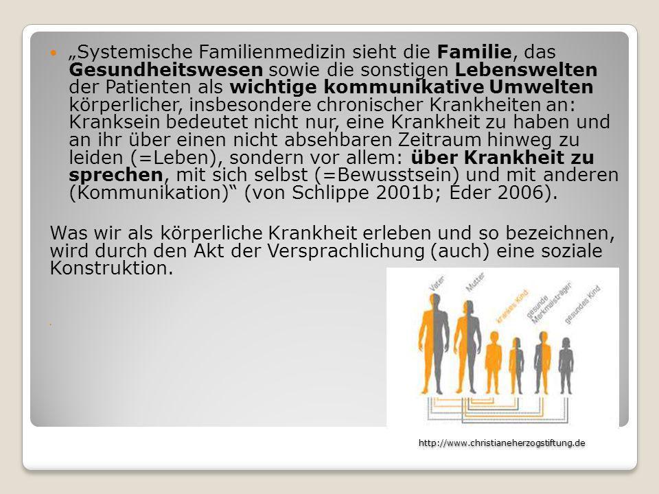 http://www.christianeherzogstiftung.de http://www.christianeherzogstiftung.de Systemische Familienmedizin sieht die Familie, das Gesundheitswesen sowi