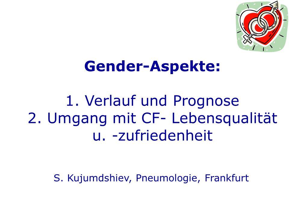 Gender-Aspekte: 1.Verlauf und Prognose S. Kujumdshiev, Pneumologie, Frankfurt Ch.