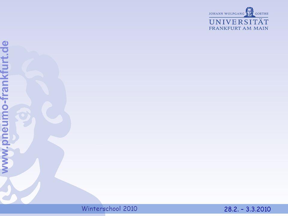 Winterschool 2010 28.2. – 3.3.2010