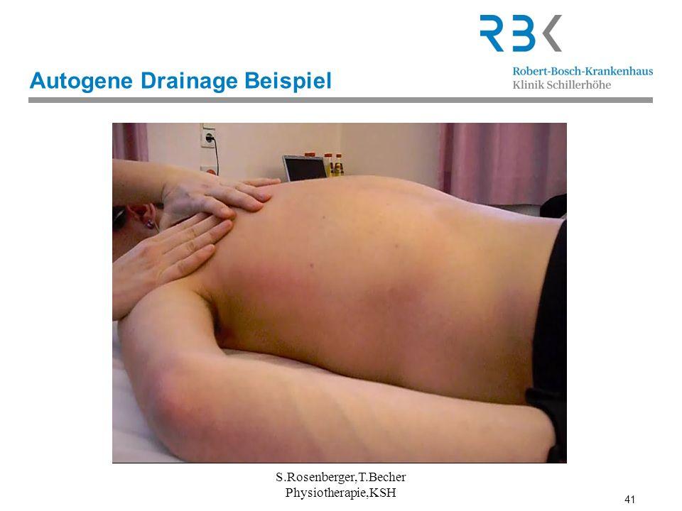 41 Autogene Drainage Beispiel S.Rosenberger,T.Becher Physiotherapie,KSH