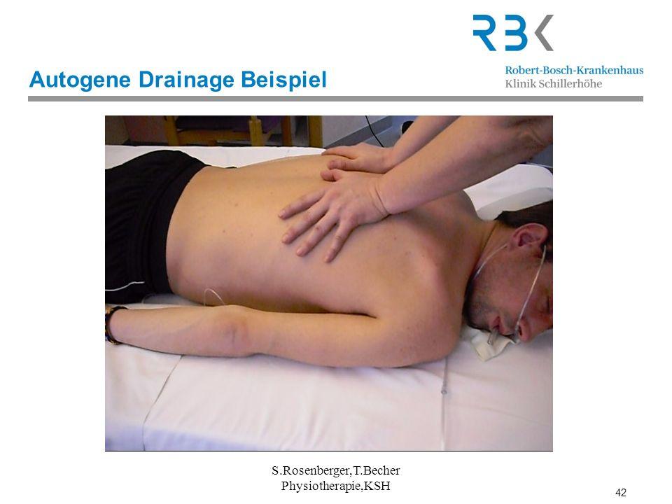 42 Autogene Drainage Beispiel S.Rosenberger,T.Becher Physiotherapie,KSH