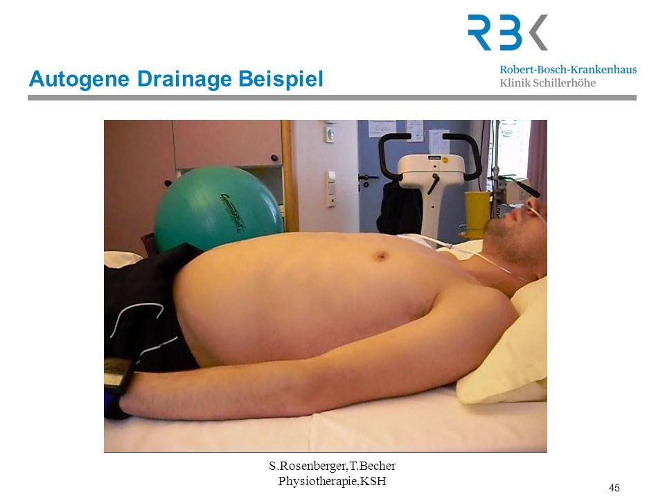 45 Autogene Drainage Beispiel S.Rosenberger,T.Becher Physiotherapie,KSH