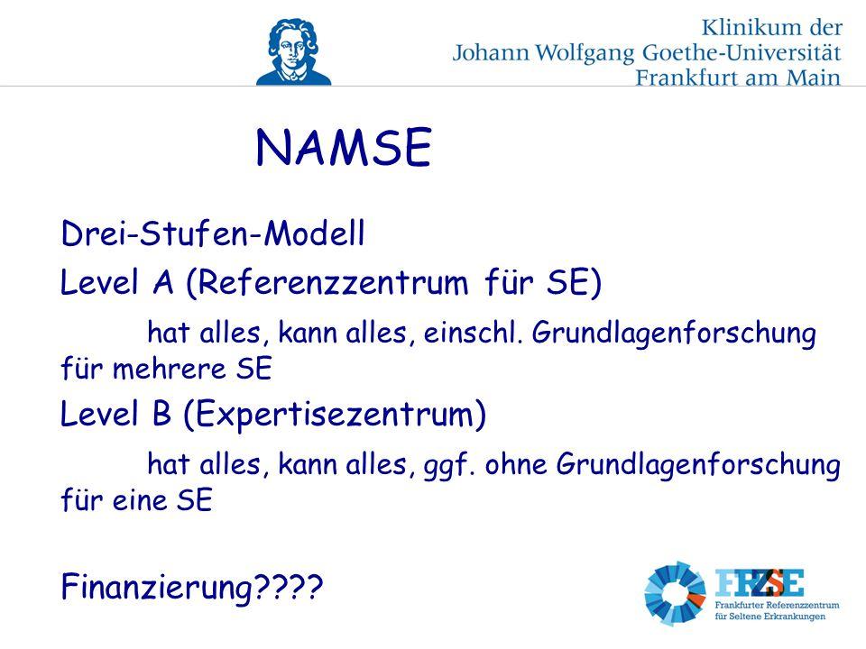 NAMSE Drei-Stufen-Modell Level A (Referenzzentrum für SE) hat alles, kann alles, einschl.