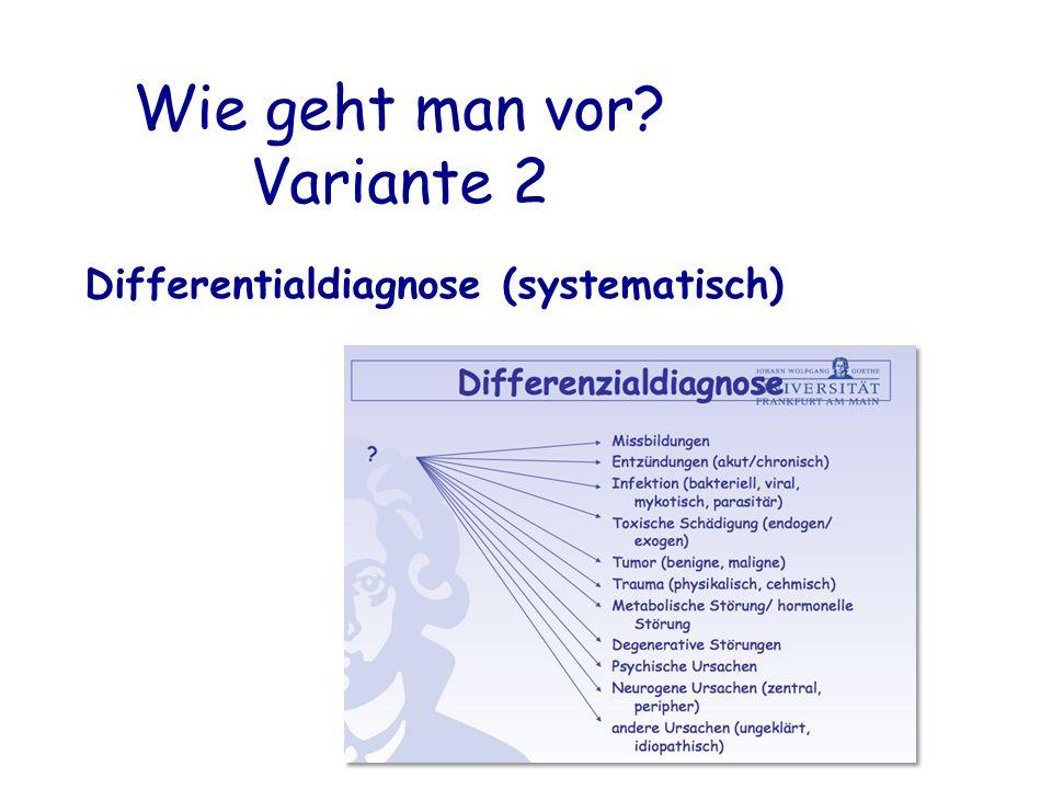 Wie geht man vor? Variante 2 Differentialdiagnose (systematisch)