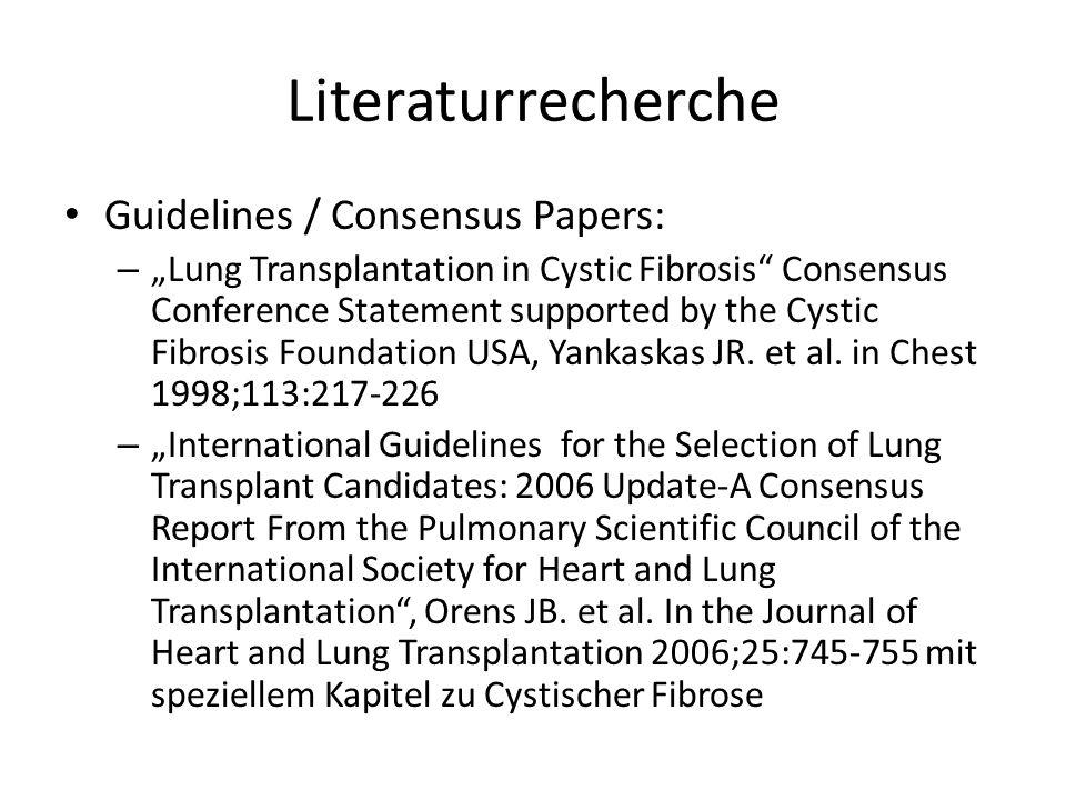 Reviews: – Lung transplantation for cystic fibrosis, Liou TG.