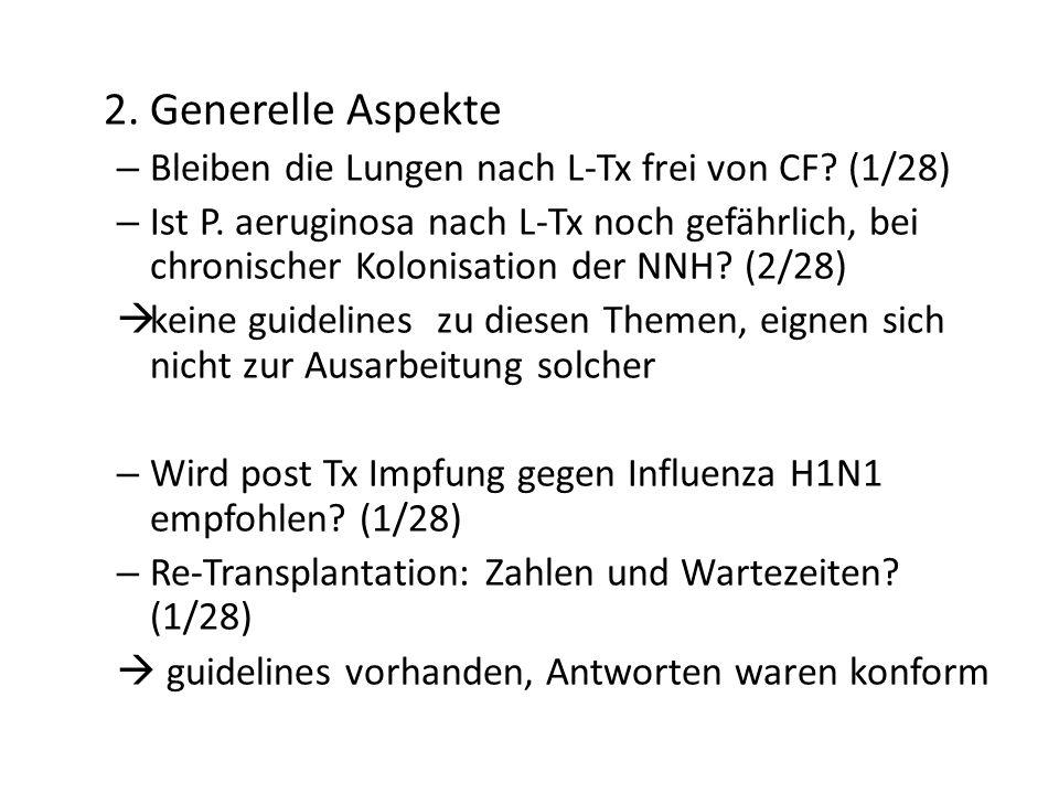 2. Generelle Aspekte – Bleiben die Lungen nach L-Tx frei von CF? (1/28) – Ist P. aeruginosa nach L-Tx noch gefährlich, bei chronischer Kolonisation de