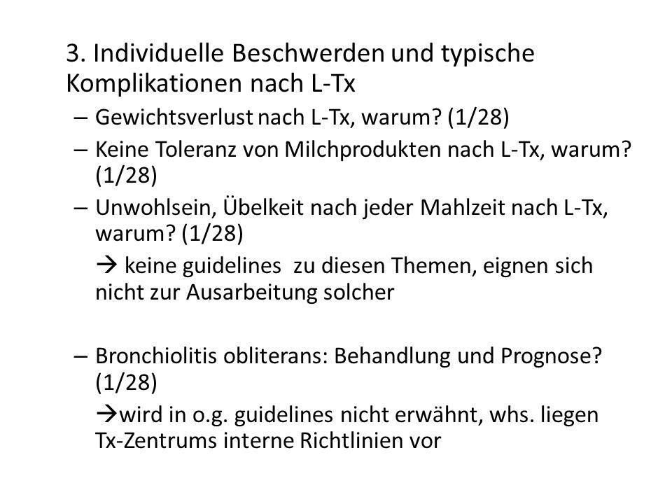 3. Individuelle Beschwerden und typische Komplikationen nach L-Tx – Gewichtsverlust nach L-Tx, warum? (1/28) – Keine Toleranz von Milchprodukten nach