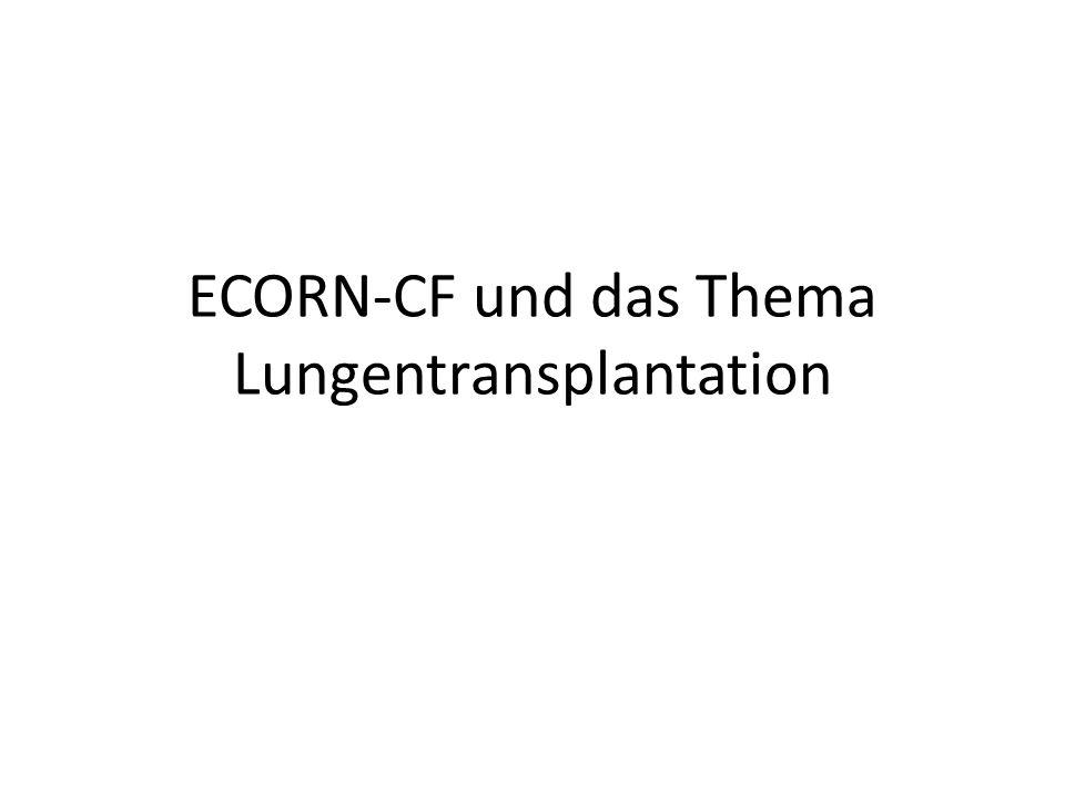 ECORN-CF und das Thema Lungentransplantation