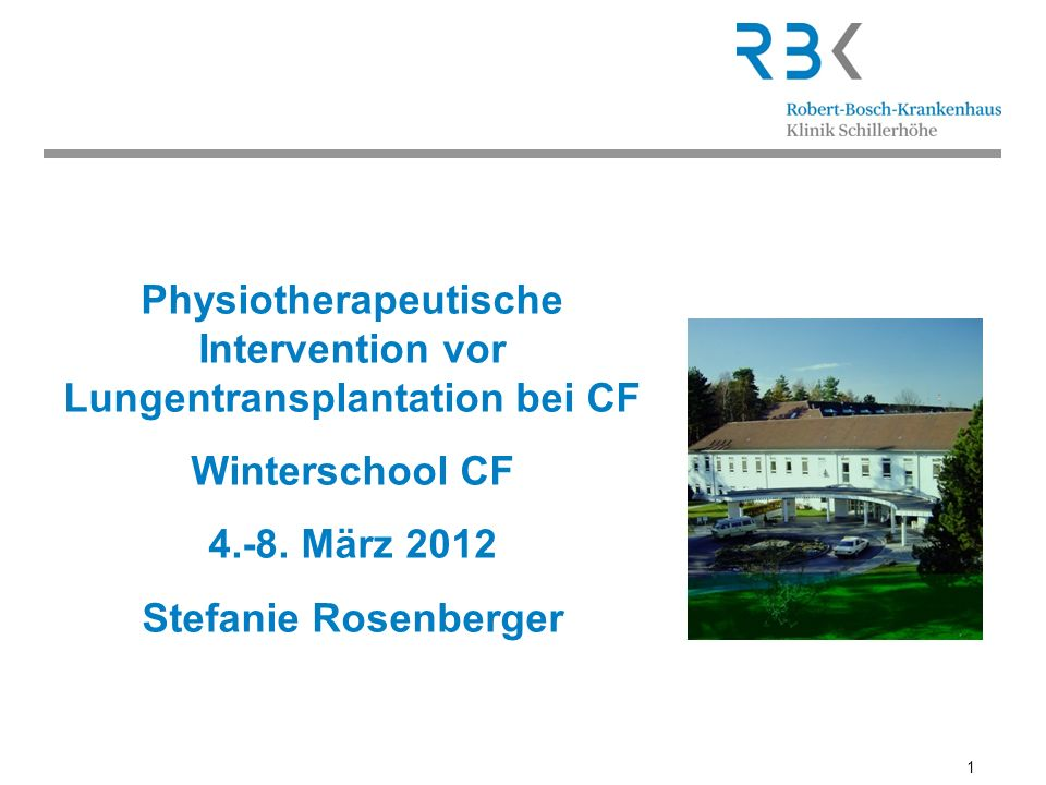 2 S.Rosenberger, Winterschool 2012 Lungentransplantation in Deutschland Im Jahr 2011wurden laut Eurotransplant in Deutschland 268 Doppellungen transplantiert Ende 2011 warten 580 Menschen auf eine Lungentransplantation