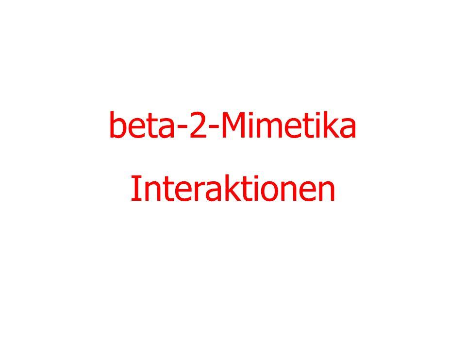 beta-2-Mimetika Interaktionen