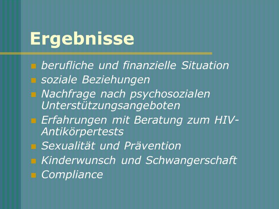 Schlussfolgerung (Compliance) Sowohl die Einstellungen der betroffenen Personen als auch soziale und berufliche Lebensverhältnisse sollten in Therapiekonzepte einbezogen werden.
