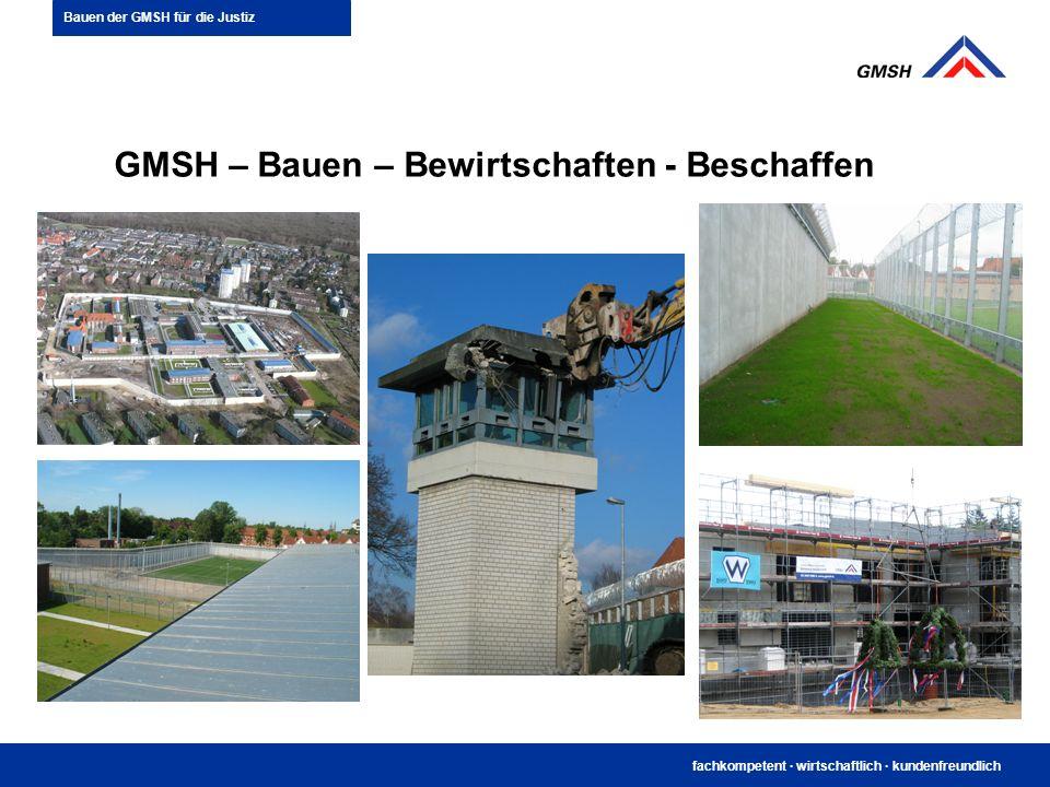 fachkompetent · wirtschaftlich · kundenfreundlich GMSH – Bauen – Bewirtschaften - Beschaffen Bauen der GMSH für die Justiz