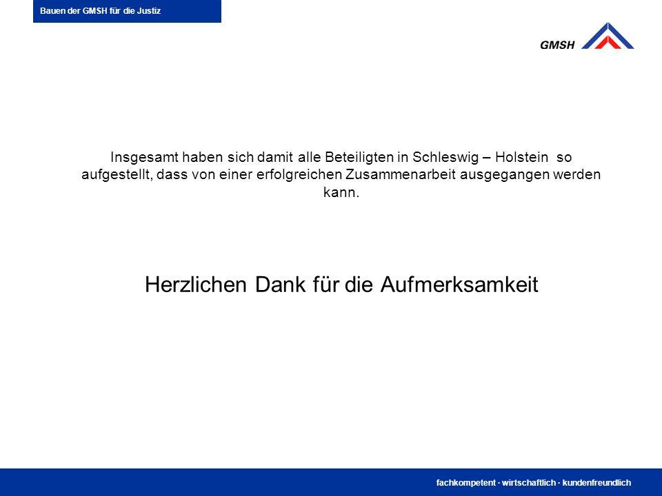 fachkompetent · wirtschaftlich · kundenfreundlich Insgesamt haben sich damit alle Beteiligten in Schleswig – Holstein so aufgestellt, dass von einer e