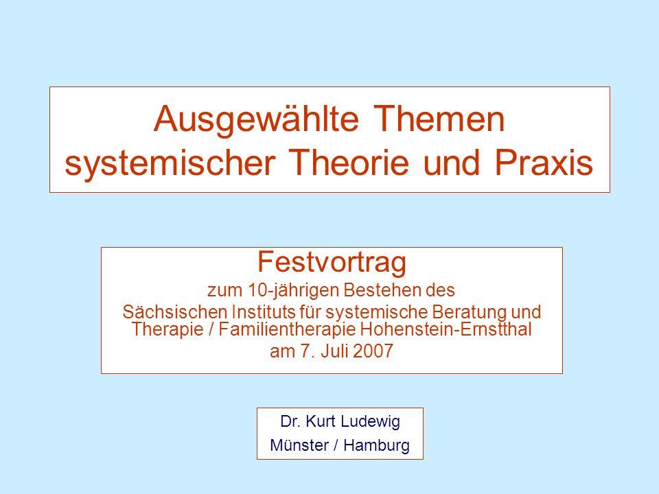 Juli 2007 Dr. K. Ludewig 12 Systeme