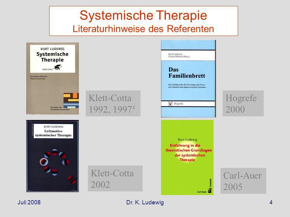 Juli 2008Dr. K. Ludewig35 Professionelle soziale Versorgung: ein Kommunikationsmodell