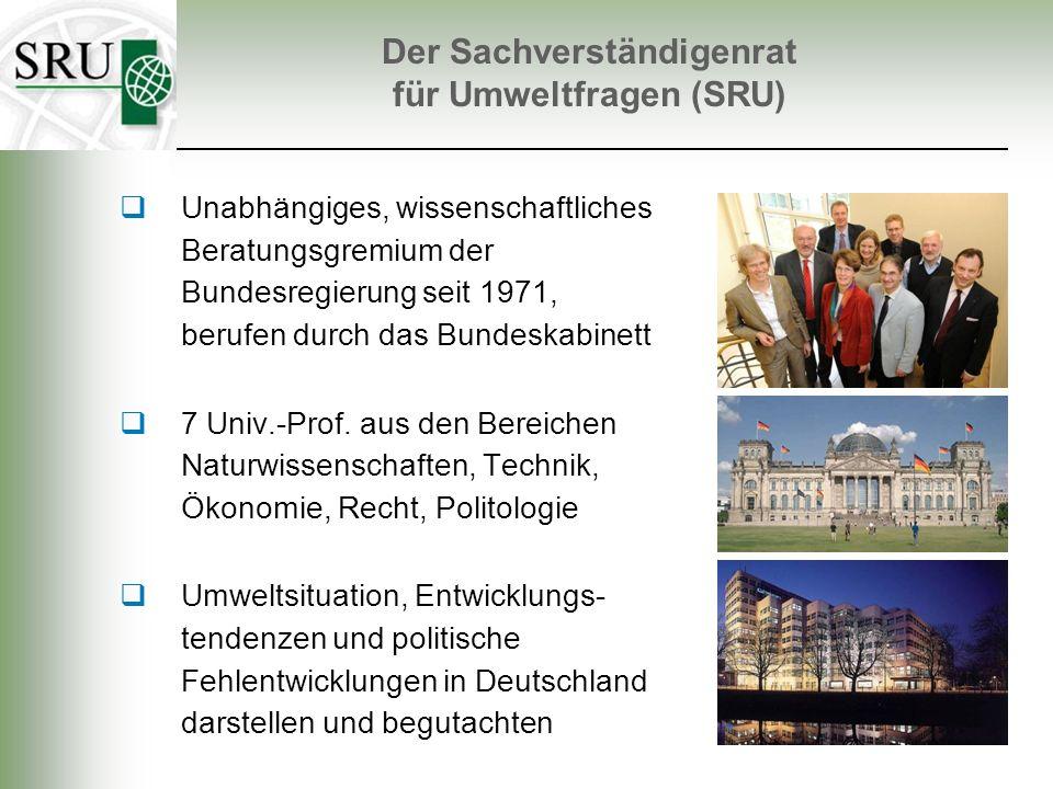Unabhängiges, wissenschaftliches Beratungsgremium der Bundesregierung seit 1971, berufen durch das Bundeskabinett 7 Univ.-Prof. aus den Bereichen Natu