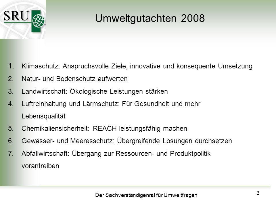 Der Sachverständigenrat für Umweltfragen 14 Klimaschutz Prof.