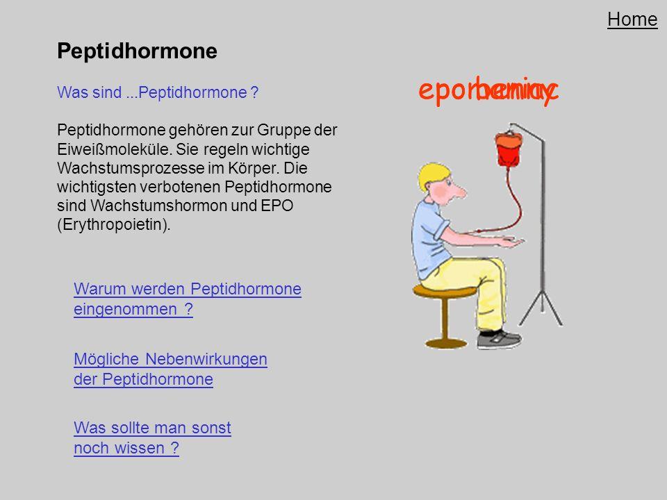 Peptidhormone Was sind...Peptidhormone ? Peptidhormone gehören zur Gruppe der Eiweißmoleküle. Sie regeln wichtige Wachstumsprozesse im Körper. Die wic