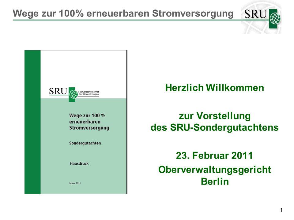 42 Ein gemeinsamer, europäischer Vergütungssatz wäre das Aus für das deutsche Energiekonzept (Röttgen) SRU setzt auf Subsidiarität: europäische Ziele, nationale Fördersysteme, grenzüberschreitende Kooperation Vorrangig sind die Schaffung eines gemeinsamen Strommarktes und der Netzausbau Subsidiarität bei der Förderung von EE