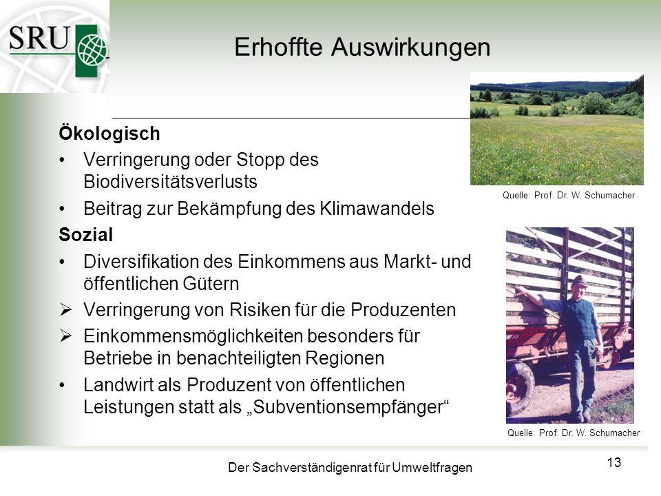 Der Sachverständigenrat für Umweltfragen Erhoffte Auswirkungen Ökologisch Verringerung oder Stopp des Biodiversitätsverlusts Beitrag zur Bekämpfung de