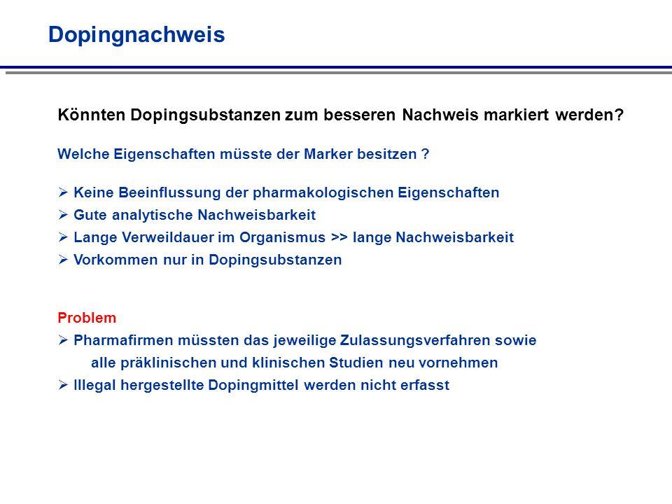Doping mit Anabolika Methyltrienolon O OH CH 3 Bei einer Trainingskontrolle In April 2008 werden von 11 griechischen Gewichthebern 9 mit Methyltrienolon überführt