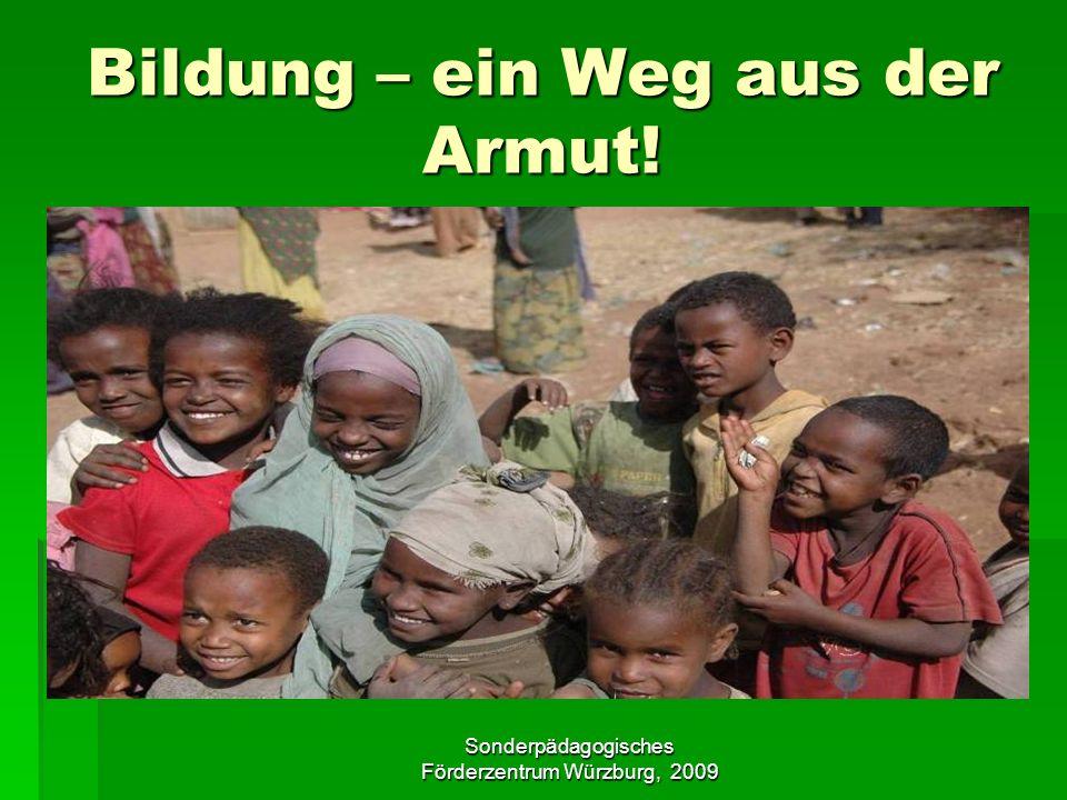 Sonderpädagogisches Förderzentrum Würzburg, 2009 Äthiopien mit allen Sinnen: Rezepte ausprobieren!