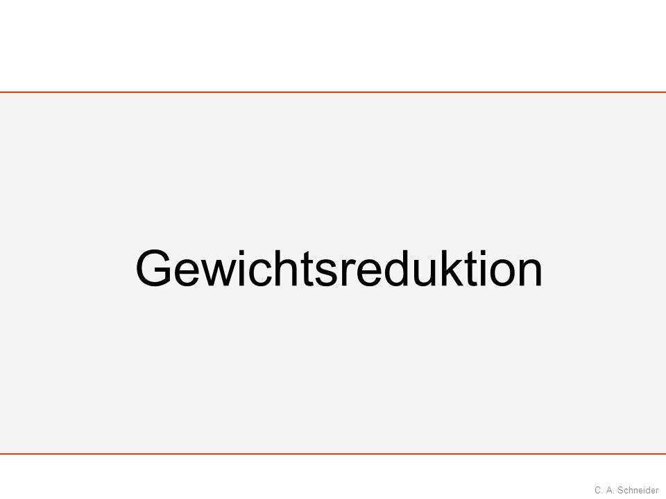 C. A. Schneider Gewichtsreduktion
