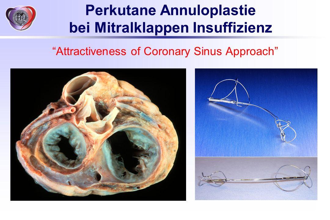 Perkutane Annuloplastie bei Mitralklappen Insuffizienz Attractiveness of Coronary Sinus Approach