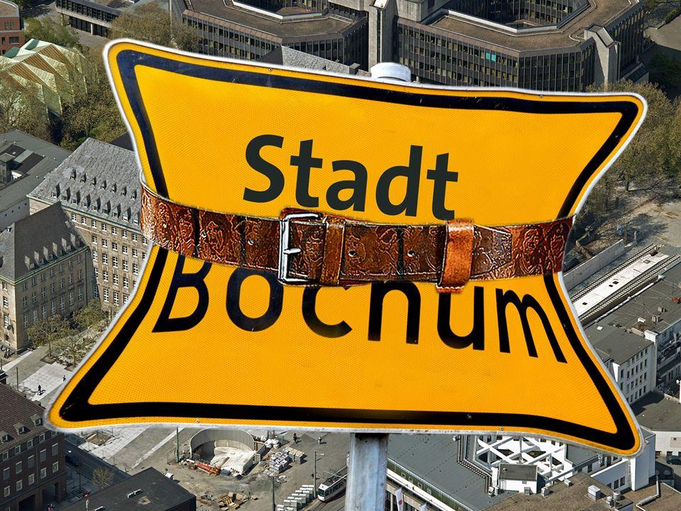 finanzielle Größenordnungen Stadt Bochum Eigenkapital zum 31.12.2011 1,1 Mrd Steuererträge inkl.