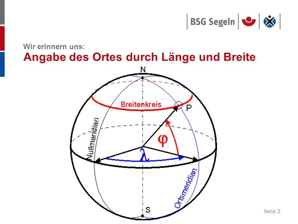 Seite 3 Grundlagen der astronomischen Navigation Erdkugel Nordpol Südpol Äquator Meridian Breite Himmelskugel Himmelsnordpol Himmelssüdpol Himmelsäquator Himmelsmeridian Declination