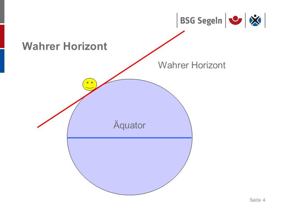 Seite 5 Horizontalsystem: Höhe und Azimut Zenit Nadir Wahrer Horizont Höhenparallel Höhe Zenitdistanz Azimut Nordmeridian