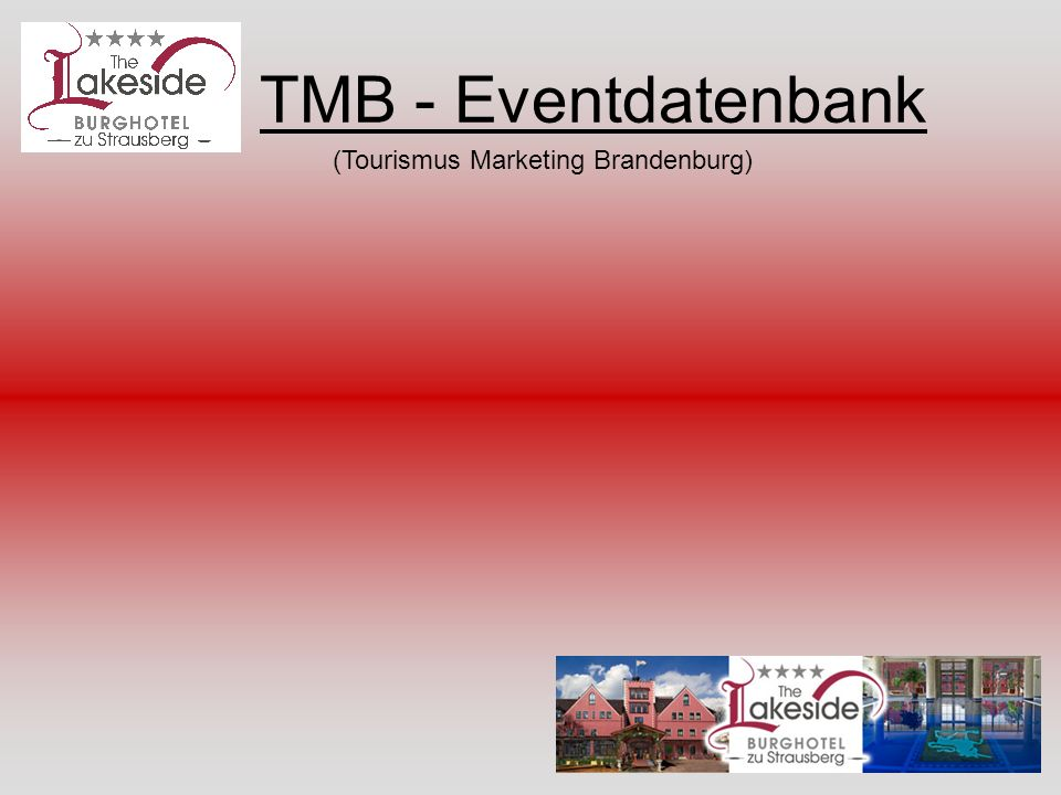TMB - Eventdatenbank (Tourismus Marketing Brandenburg)