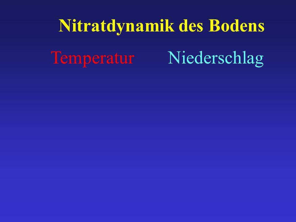 TemperaturNiederschlag Nitratdynamik des Bodens
