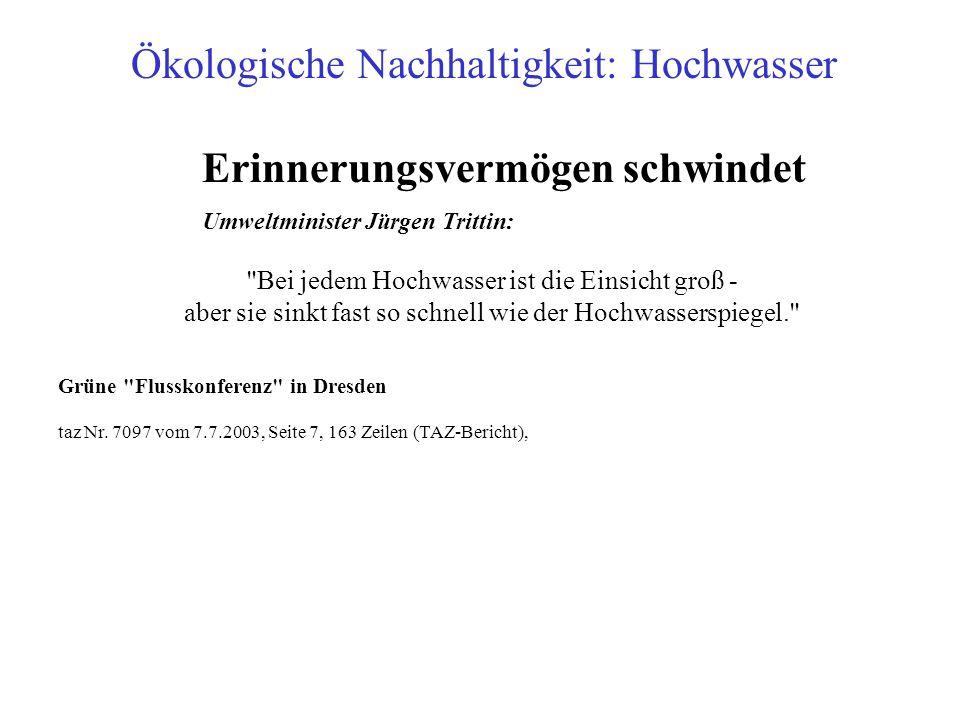 Erinnerungsvermögen schwindet Umweltminister Jürgen Trittin: