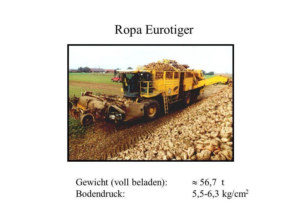 Ropa Eurotiger Gewicht (voll beladen): 56,7 t Bodendruck:5,5-6,3 kg/cm 2