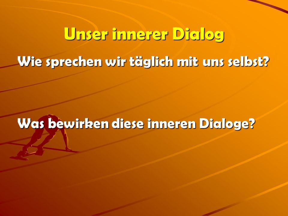 Unser innerer Dialog Wie sprechen wir täglich mit uns selbst? Was bewirken diese inneren Dialoge?