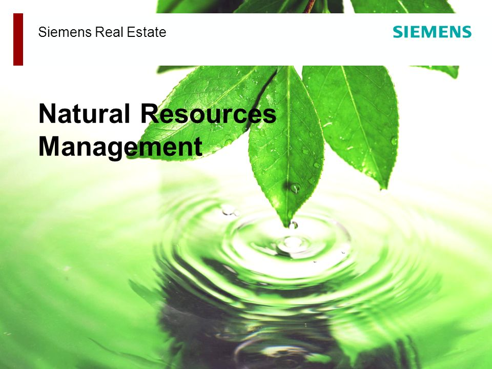 Siemens Real Estate Natural Resources Management