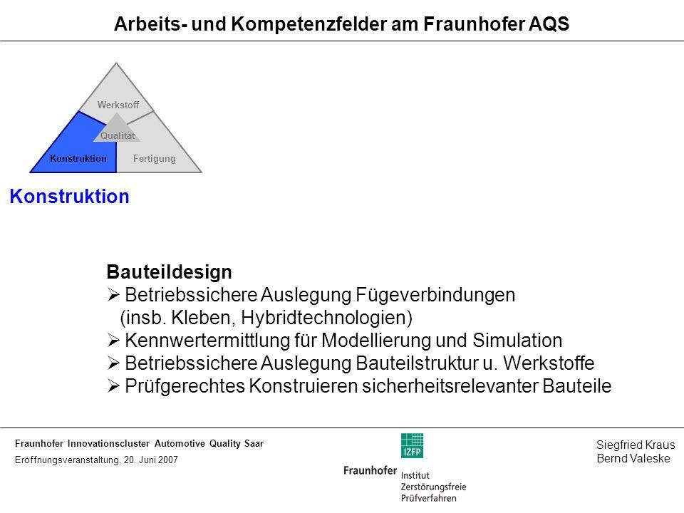 Fraunhofer Innovationscluster Automotive Quality Saar Siegfried Kraus Bernd Valeske Eröffnungsveranstaltung, 20.