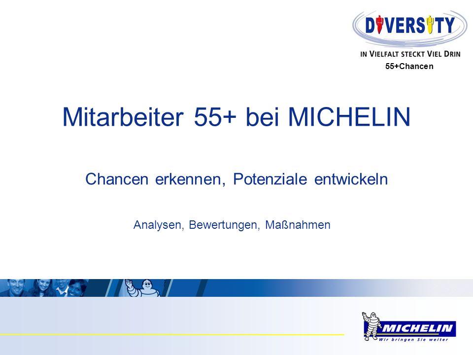 55+Chancen Chancen erkennen, Potenziale entwickeln Mitarbeiter 55+ bei MICHELIN Analysen, Bewertungen, Maßnahmen