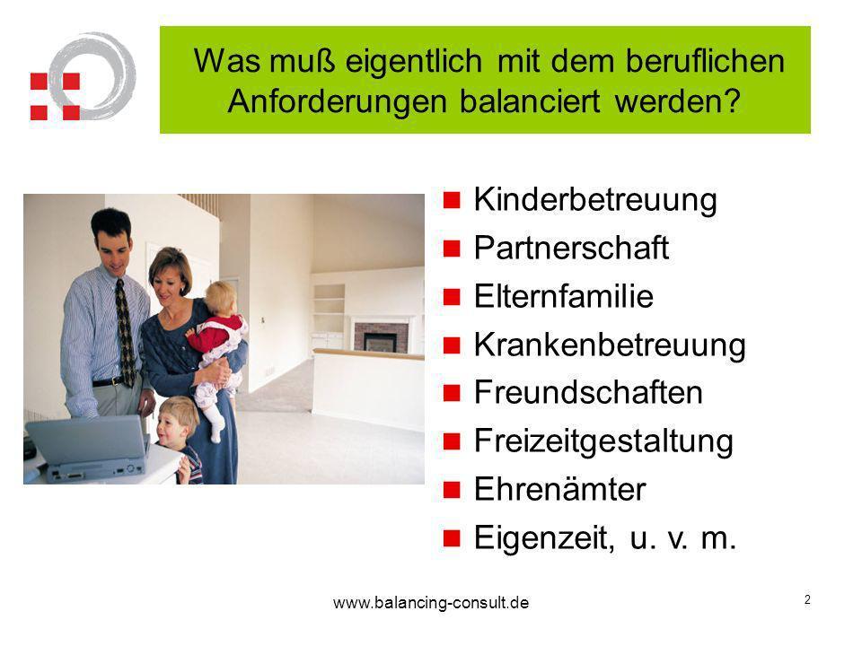 www.balancing-consult.de 3 Wenn die Balance nicht klappt Stress ist u.