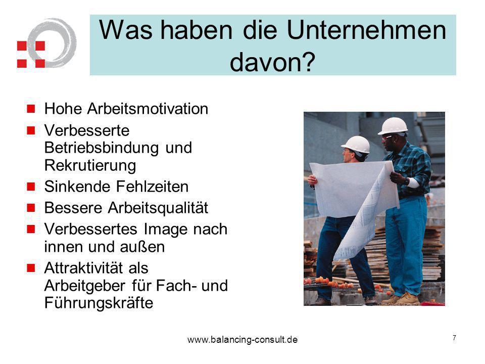 www.balancing-consult.de 8 Der finanzielle Vorteil: Ergebnis der Prognos -Studie: Ein Unternehmen mit ca.