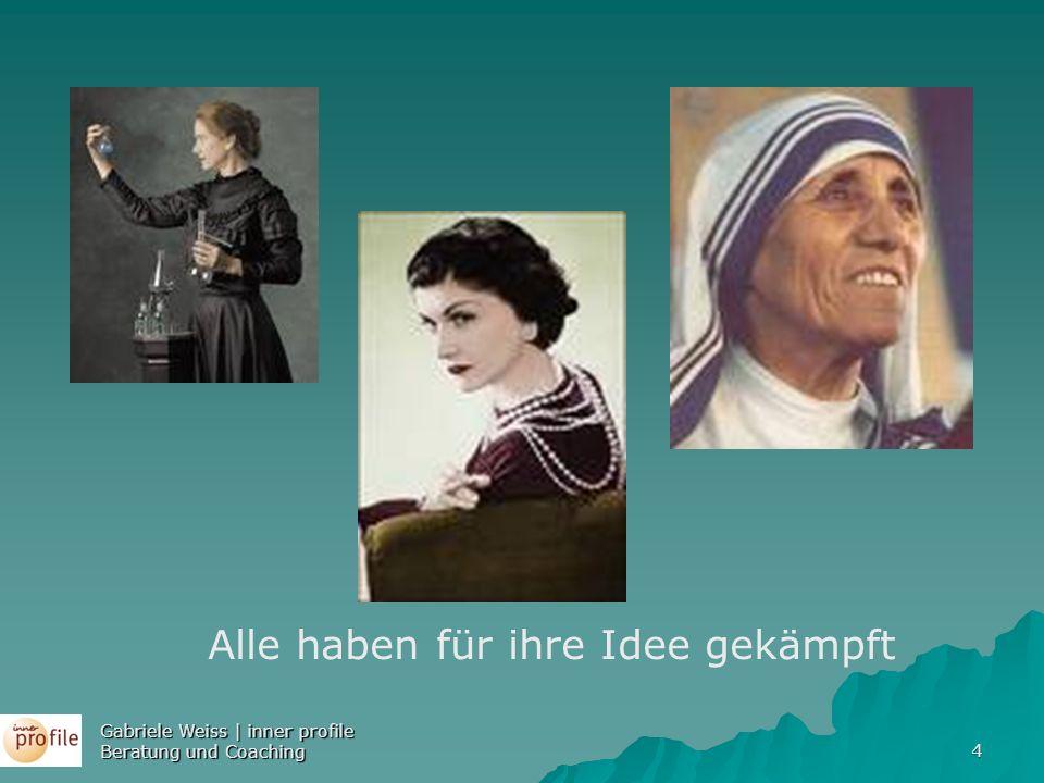 4 Alle haben für ihre Idee gekämpft Gabriele Weiss | inner profile Beratung und Coaching