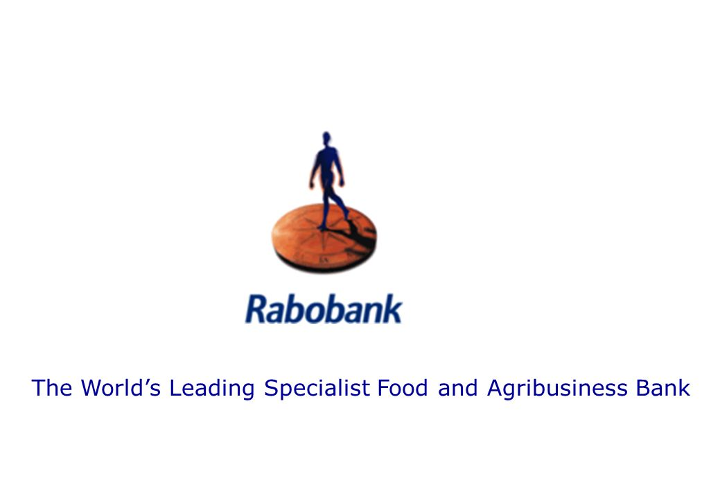 The Worlds Leading Specialist Food and Agribusiness Bank