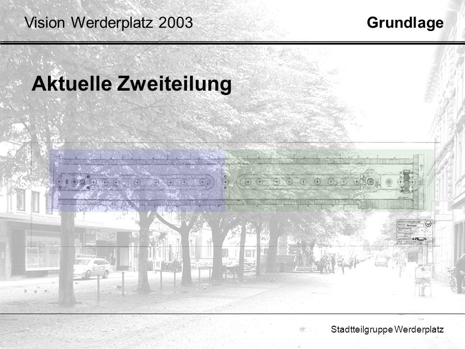 Stadtteilgruppe Werderplatz GrundlageVision Werderplatz 2003 Aktuelle Zweiteilung