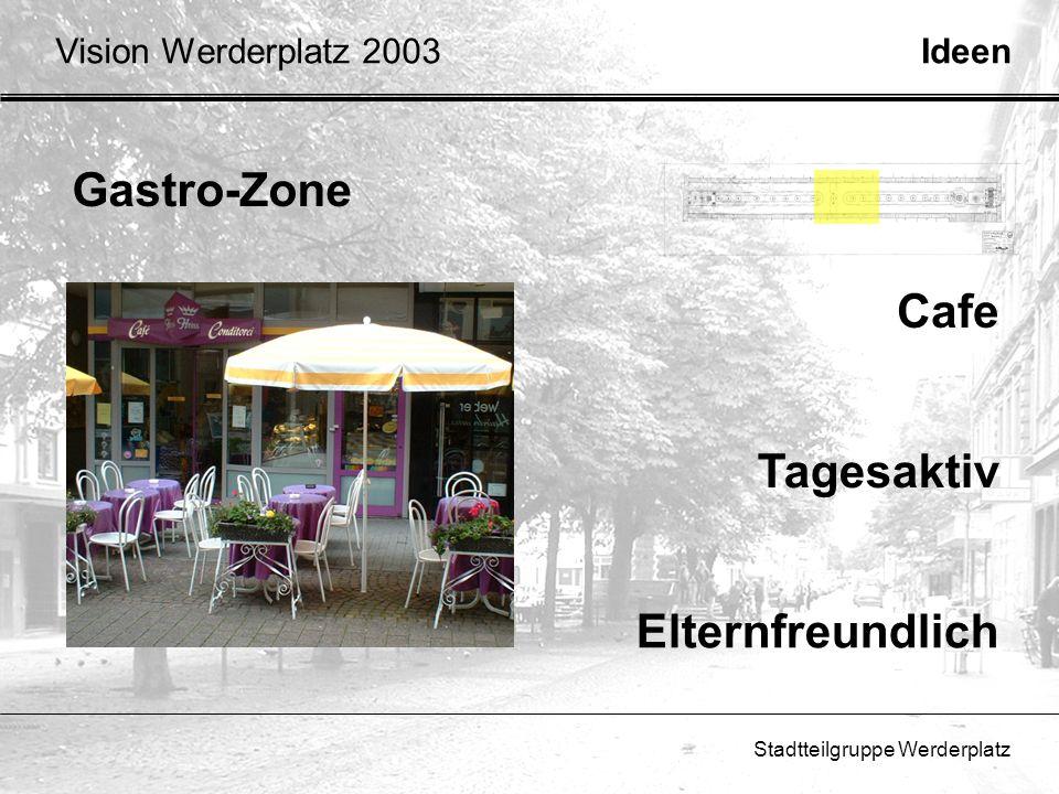 Stadtteilgruppe Werderplatz Ideen Gastro-Zone Tagesaktiv Elternfreundlich Cafe Vision Werderplatz 2003
