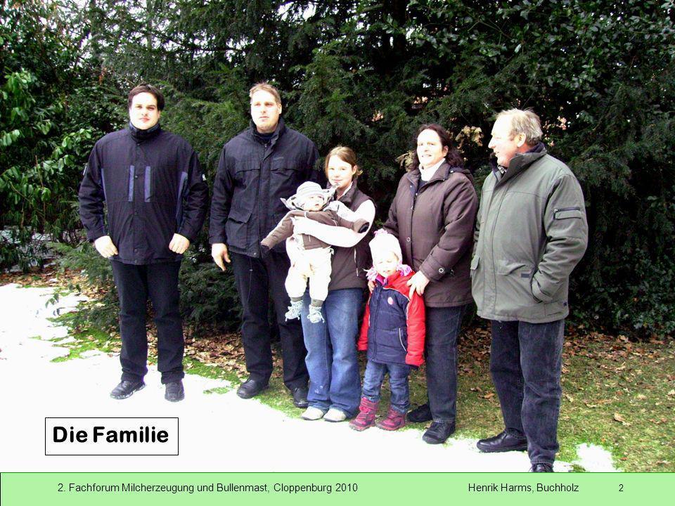 2. Fachforum Milcherzeugung und Bullenmast, Cloppenburg 2010 Henrik Harms, Buchholz 2 Die Familie