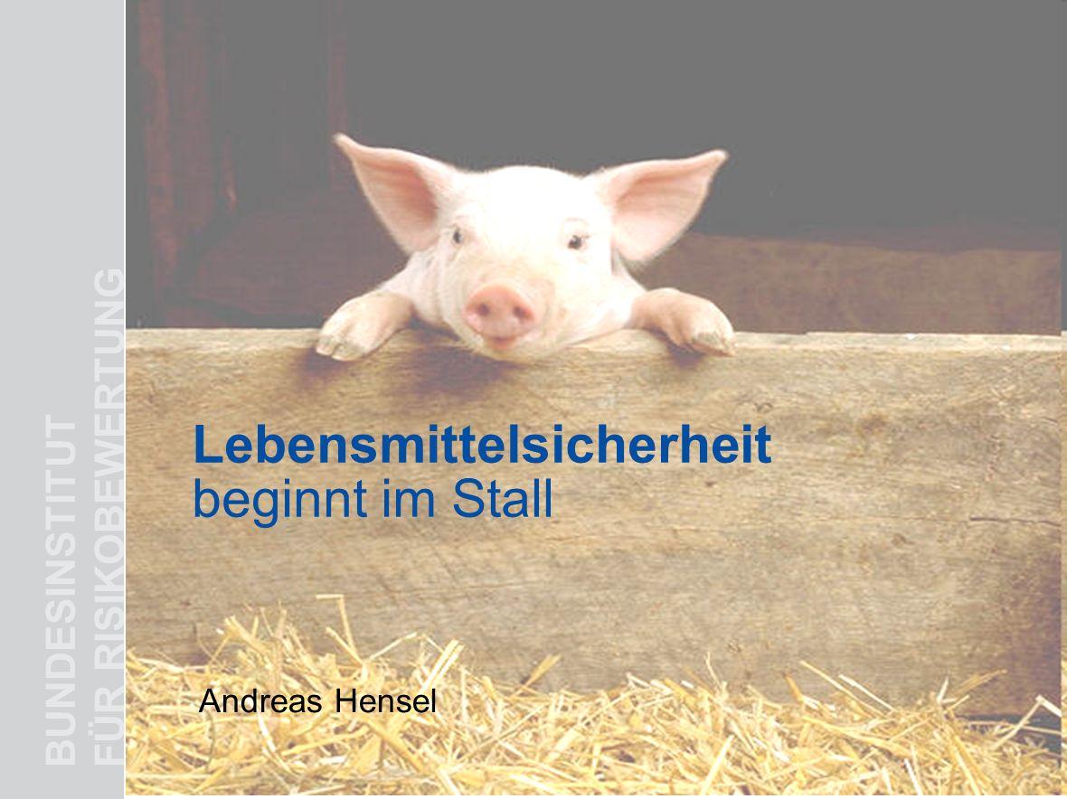 BUNDESINSTITUT FÜR RISIKOBEWERTUNG Lebensmittelsicherheit beginnt im Stall Andreas Hensel