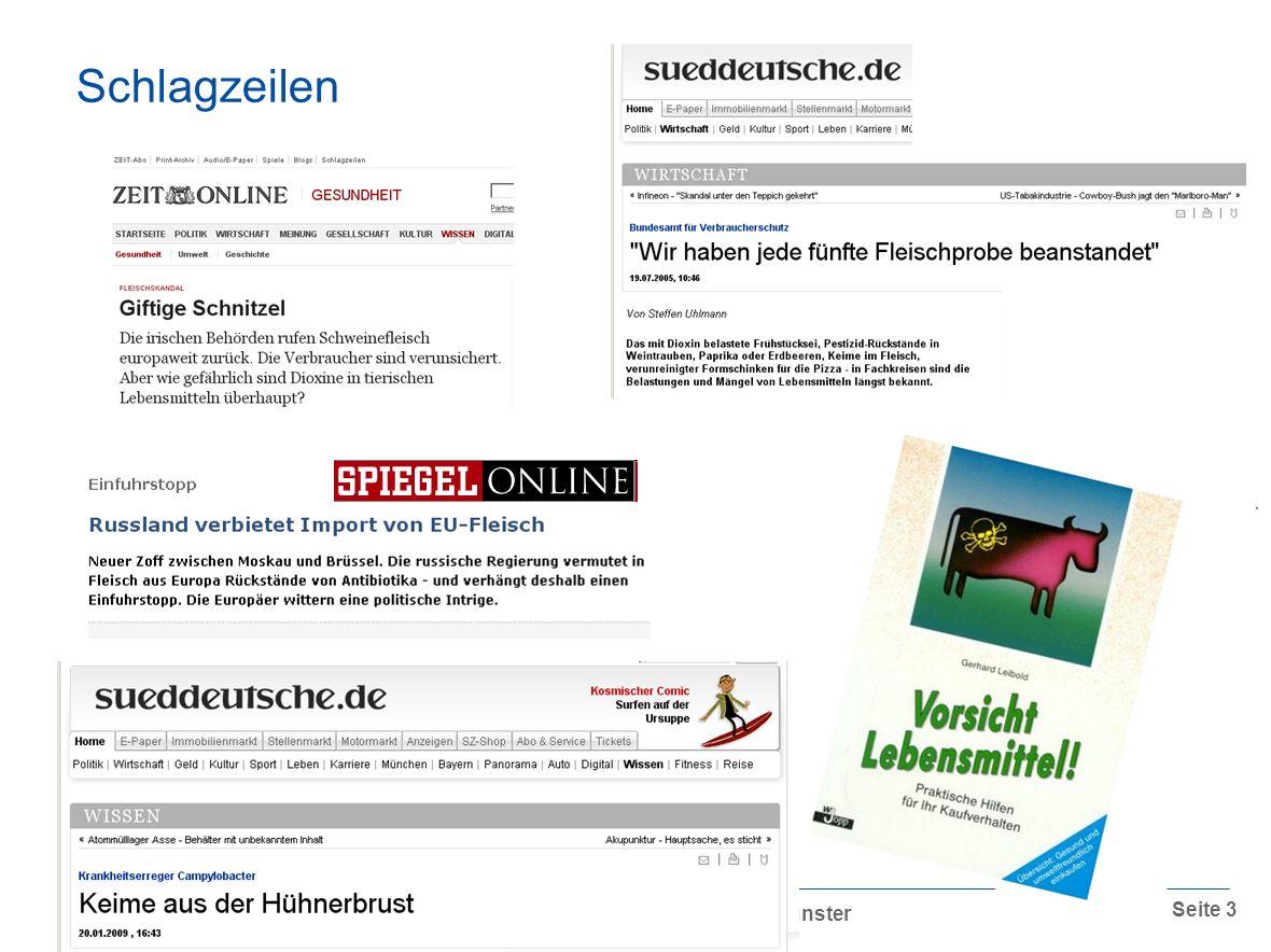 Professor Dr. Dr. Andreas Hensel,16.09.2009, DBV-Veredelungstage 2009, Münster Seite 3 Schlagzeilen