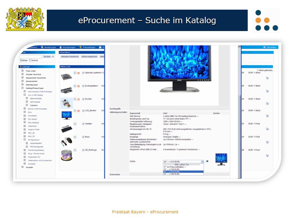 Freistaat Bayern - eProcurement eProcurement – Suche im Katalog